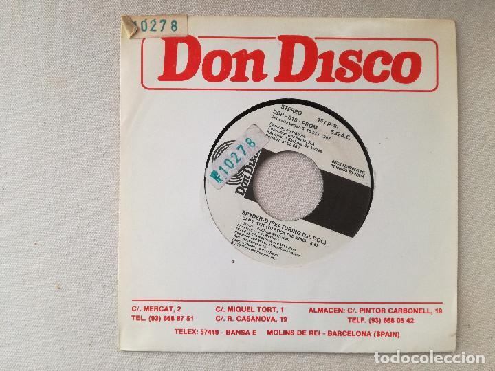 SPYDER-D FEATURING D.D. DOC - I CAN'T WAIT TO ROCK THE MIKE (DON DISCO) SINGLE ESPAÑA PROMOCIONAL (Música - Discos - Singles Vinilo - Rap / Hip Hop)