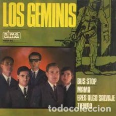 Discos de vinilo: LOS GÉMINIS BUS STOP / MAMA / ERES ALGO SALVAJE/ TIEMPO. Lote 237867715