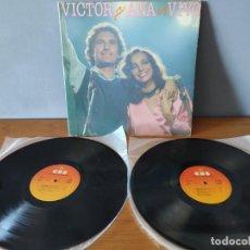 Disques de vinyle: VÍCTOR Y ANA - VICTOR Y ANA EN VIVO. Lote 237868920