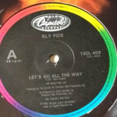 Dischi in vinile: SLY FOX - LET'S GO ALL THE WAY - 1986. Lote 237911980