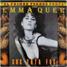 Discos de vinilo: EMMA QUER / ÀLEX CULLA - BSO DEL FILM EL PRIMER TORERO PORNO - MX SPAIN 1985 - PDI B-20901. Lote 237915730