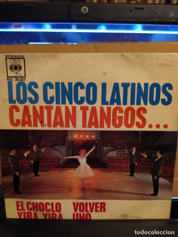 LOS CINCO LATINOS, CANTAN TANGOS, EL CHOCLO, VOLVER + 2 EP (Música - Discos de Vinilo - EPs - Grupos y Solistas de latinoamérica)