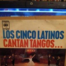 Discos de vinilo: LOS CINCO LATINOS, CANTAN TANGOS, EL CHOCLO, VOLVER + 2 EP. Lote 237921300