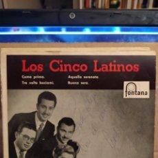 Discos de vinilo: LOS CINCO LATINOS: COME PRIMA,AQUELLA SERENATA,BUONA SERA + 1 ED ESPAÑA AUTOGRAFIADO. Lote 237923590