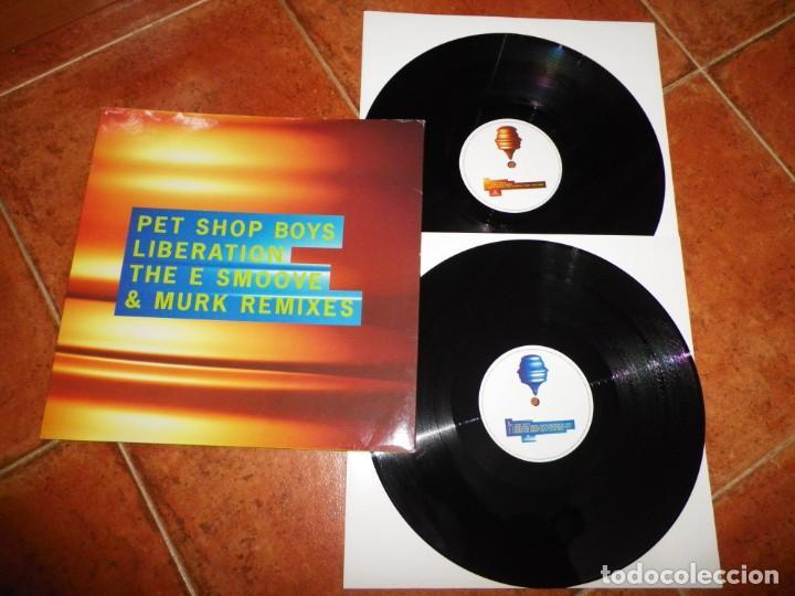 PET SHOP BOYS LIBERATION THE E SMOOVE & MURK REMIXES DOBLE MAXI SINGLE VINILO PROMO 1994 UK 2 X MAXI (Música - Discos de Vinilo - Maxi Singles - Pop - Rock Internacional de los 90 a la actualidad)
