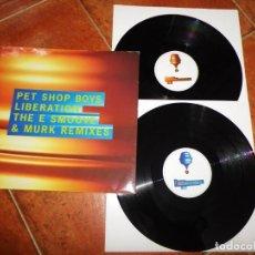 Discos de vinilo: PET SHOP BOYS LIBERATION THE E SMOOVE & MURK REMIXES DOBLE MAXI SINGLE VINILO PROMO 1994 UK 2 X MAXI. Lote 237936430