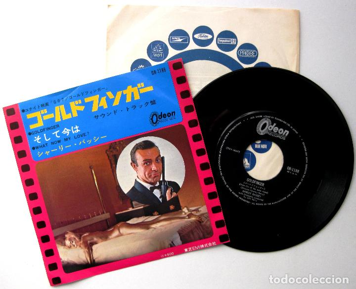 JOHN BARRY, SHIRLEY BASSEY - GOLDFINGER (JAMES BOND 007) - SINGLE ODEON 1965 JAPAN BPY (Música - Discos - Singles Vinilo - Bandas Sonoras y Actores)