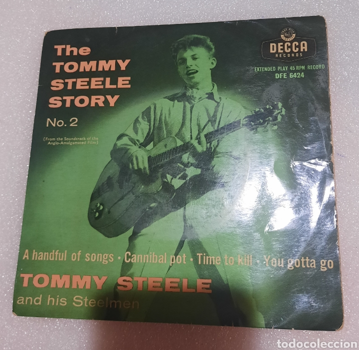 THE TOMMY STEELE STORY - A HANDFUL OF SONGS + 3 (Música - Discos de Vinilo - EPs - Rock & Roll)