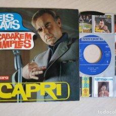 Discos de vinilo: CAPRI - ELS SAVIS / ACABAREM XIMPLES - SINGLE VERGARA DEL AÑO 1964 VINILO NUEVO CARPETA EX. Lote 238060695