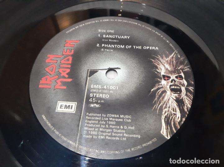 Discos de vinilo: IRON MAIDEN -LIVE!! + ONE- (1980) EP - Foto 3 - 238093545