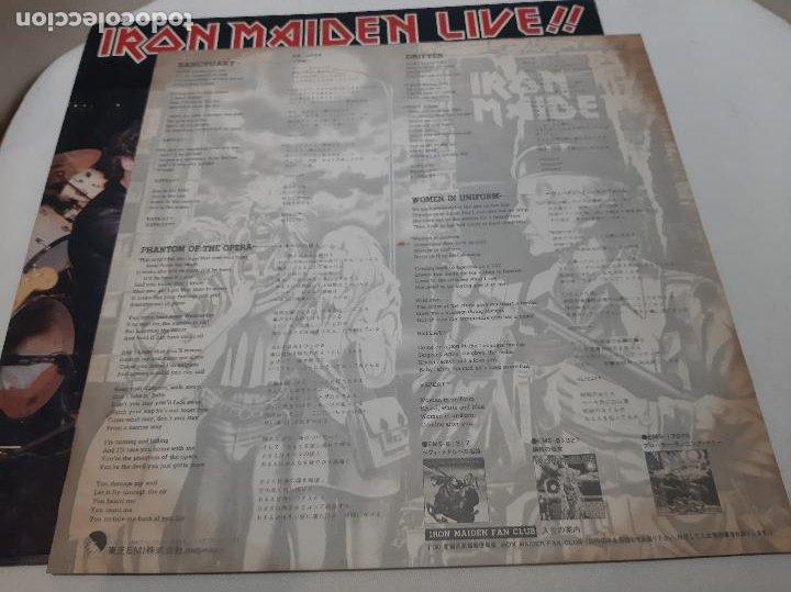 Discos de vinilo: IRON MAIDEN -LIVE!! + ONE- (1980) EP - Foto 5 - 238093545