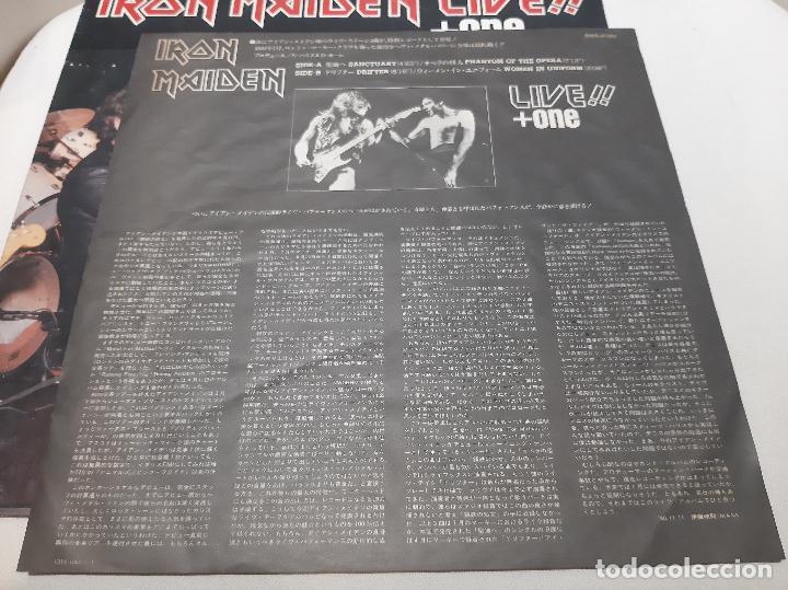 Discos de vinilo: IRON MAIDEN -LIVE!! + ONE- (1980) EP - Foto 6 - 238093545