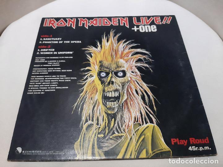 Discos de vinilo: IRON MAIDEN -LIVE!! + ONE- (1980) EP - Foto 9 - 238093545