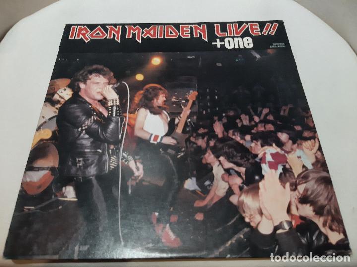 IRON MAIDEN -LIVE!! + ONE- (1980) EP (Música - Discos de Vinilo - EPs - Heavy - Metal)