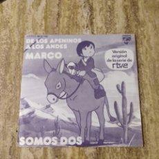 Discos de vinilo: MARCO, DE LOS APENINOS A LOS ANDES PHILIPS. Lote 238099230