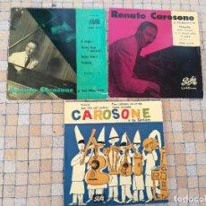 Discos de vinilo: LOTE 3 VINILOS ANTIGUOS DE RENATO CAROSONE 45 RPM - DISCOS EN MUY BUEN ESTADO. Lote 238103640