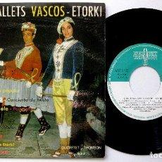 Discos de vinilo: ETORKI (TXISTU, POLENTZI GEZALA) - LOS BALLETS VASCOS - EP DUCRETET THOMSON / ZAFIRO 1962 BPY. Lote 238104730