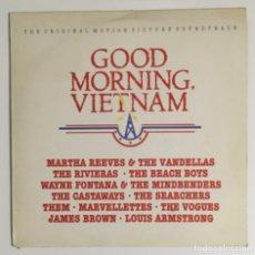 Discos de vinilo: GOOD MORNING VIETNAM. BSO. AM RECORDS, 1988.. Lote 238122960