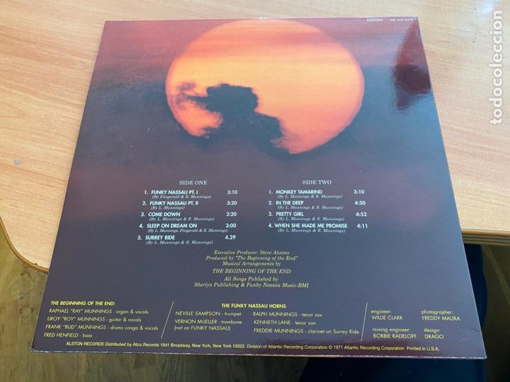 Discos de vinilo: THE BEGINNING OF THE END (FUNKY NASSAU) LP USA SD-33-379 (B-20) - Foto 3 - 238151950