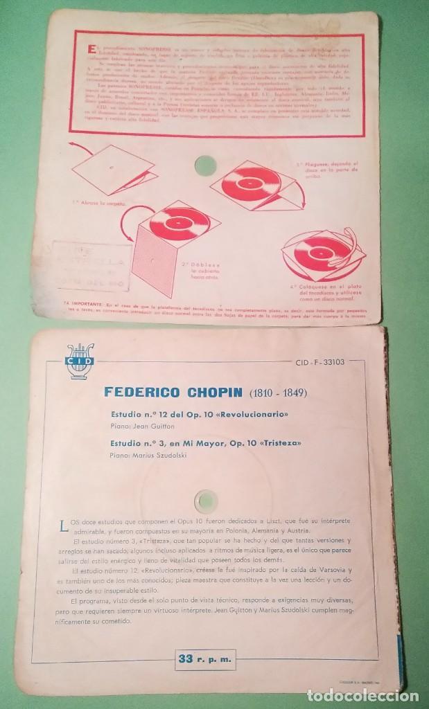 Discos de vinilo: SINGLE FLEXIBLE CHOPIN 1962 2 TEMAS 33 R.P.M.- LIMPIO TRATADO CON ALCOHOL ISOPROPÍLICO - D3 - Foto 2 - 238184420