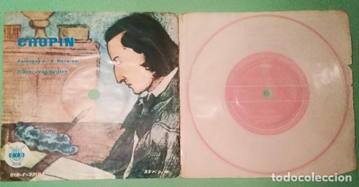SINGLE FLEXIBLE CHOPIN 1962 2 TEMAS 33 R.P.M.- LIMPIO TRATADO CON ALCOHOL ISOPROPÍLICO - D3 (Música - Discos - Singles Vinilo - Clásica, Ópera, Zarzuela y Marchas)