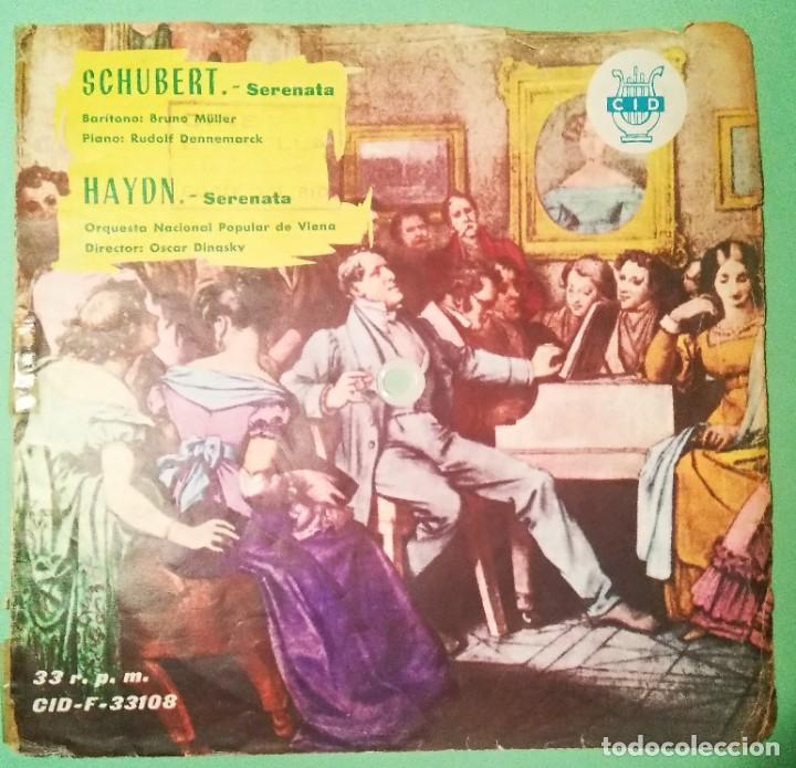 SINGLE FLEXIBLE SCHUBERT, HAYDN 1962 2 TEMAS 33 R.P.M.- LIMPIO TRATADO CON ALCOHOL ISOPROPÍLICO - D3 (Música - Discos - Singles Vinilo - Clásica, Ópera, Zarzuela y Marchas)