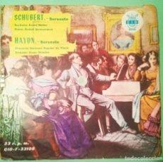Discos de vinilo: SINGLE FLEXIBLE SCHUBERT, HAYDN 1962 2 TEMAS 33 R.P.M.- LIMPIO TRATADO CON ALCOHOL ISOPROPÍLICO - D3. Lote 238185440