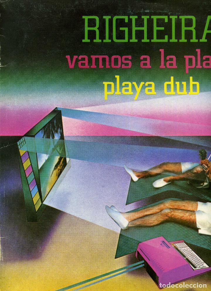 RIGHEIRA - VAMOS A LA PLAYA (Música - Discos de Vinilo - Maxi Singles - Pop - Rock - New Wave Internacional de los 80)