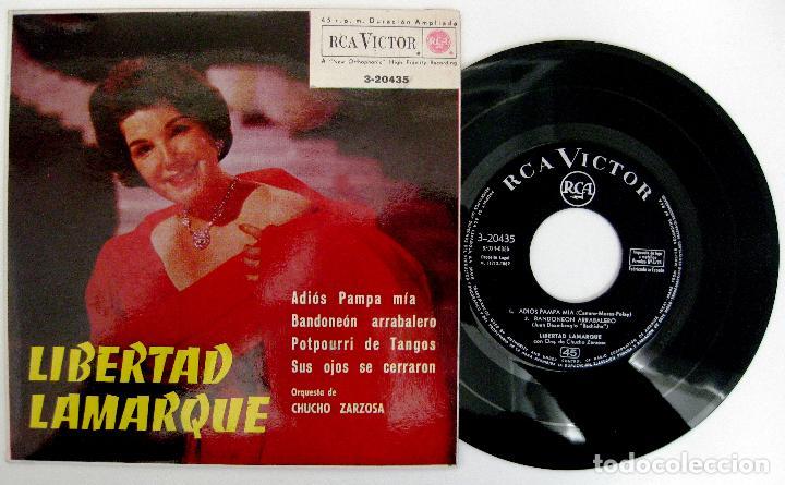 LIBERTAD LAMARQUE - ADIOS PAMPA MÍA +3 - EP RCA VICTOR 1962 BPY (Música - Discos de Vinilo - EPs - Grupos y Solistas de latinoamérica)