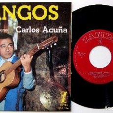 Discos de vinilo: CARLOS ACUÑA - TANGOS - EL DÍA QUE ME QUIERAS +3 - EP ZAFIRO 1962 BPY. Lote 238203225