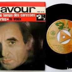 Discos de vinilo: CHARLES AZNAVOUR - ET POURTANT +3 - EP BARCLAY 1963 BPY. Lote 238208965