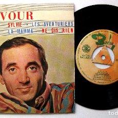 Discos de vinilo: CHARLES AZNAVOUR - SYLVIE +3 - EP BARCLAY 1963 BPY. Lote 238211215