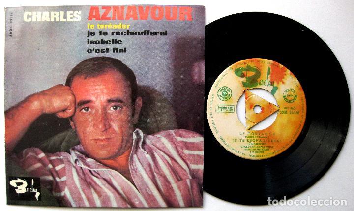 CHARLES AZNAVOUR - LE TORÉADOR +3 - EP BARCLAY 1965 BPY (Música - Discos de Vinilo - EPs - Canción Francesa e Italiana)