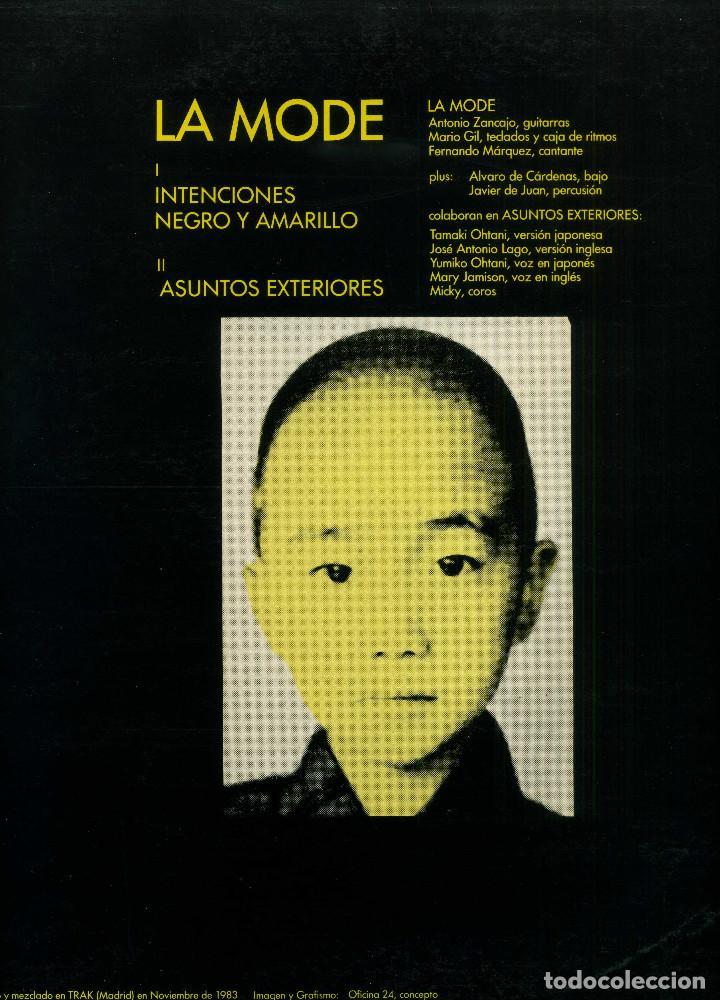 Discos de vinilo: LA MODE - INTENCIONES - Foto 2 - 238220785