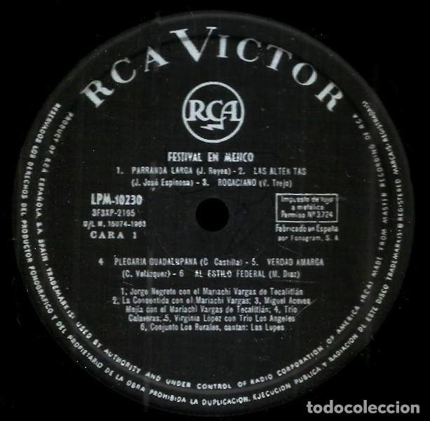 Discos de vinilo: V1358 - FESTIVAL DE MEXICO. RECOPILATORIO. LP VINILO - Foto 2 - 238222205