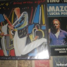 Discos de vinilo: STING - BRING ON THE NIGHT - DOBLE ALBUM (AM RECORDS )OG ESPAÑA + LIBRO AMAZONIA. Lote 238238220