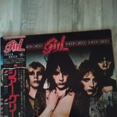 """Discos de vinilo: GIRL """" SHEER GREED """". EDICIÓN JAPÓN + OBI + ENCARTE CON LETRAS EN INGLÉS Y JAPONÉS. 1980. JET RECORD. Lote 238256860"""