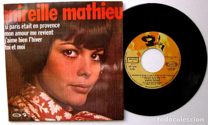 MIREILLE MATHIEU - MON AMOUR ME REVIENT +3 - EP BARCLAY/MOVIEPLAY 1970 BPY (Música - Discos de Vinilo - EPs - Canción Francesa e Italiana)