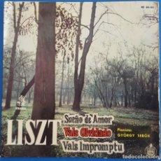 Discos de vinilo: SINGLE / LISZT - SUEÑO DE AMOR, 1960. Lote 238290315