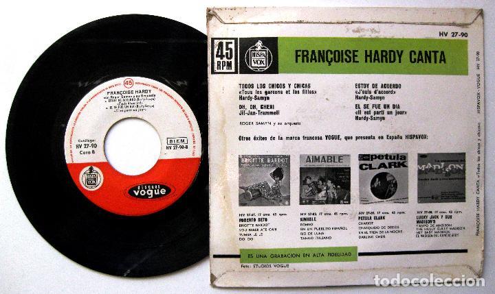 Discos de vinilo: Françoise Hardy - Todos Los Chicos Y Chicas +3 - EP Disques Vogue 1962 BPY - Foto 2 - 238296535