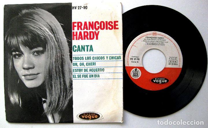 FRANÇOISE HARDY - TODOS LOS CHICOS Y CHICAS +3 - EP DISQUES VOGUE 1962 BPY (Música - Discos de Vinilo - EPs - Canción Francesa e Italiana)