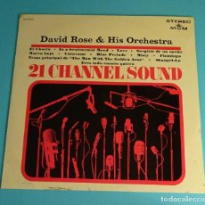 Discos de vinilo: DAVID ROSE AND HIS ORCHESTRA. 21 CHANNEL SOUND. SPAIN, MGM RECORDS 1965. Lote 238297925