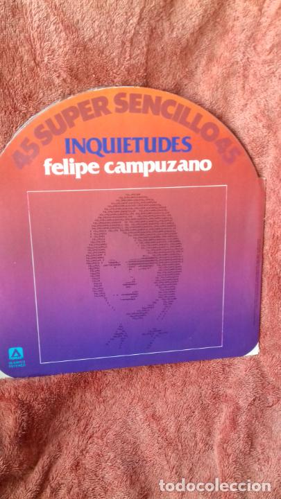 FELIPE PE CAMPUZANO..INQUIETUDES..MAXI -SINGLE (Música - Discos de Vinilo - Maxi Singles - Jazz, Jazz-Rock, Blues y R&B)
