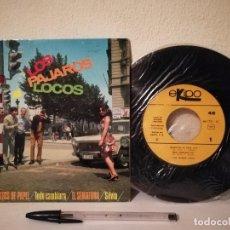 Discos de vinilo: ANTIGUO SINGLE - LOS PAJAROS LOCOS - TRAJECITOS DE PAPEL - EKIPO. Lote 238348515