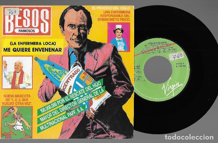 """BESOS RABIOSOS 7"""" SPAIN 45 ME QUIERE ENVENENAR 1987 SINGLE VINILO POWER POP ROCK + HOJA PRENSA MIRA (Música - Discos - Singles Vinilo - Grupos Españoles de los 70 y 80)"""