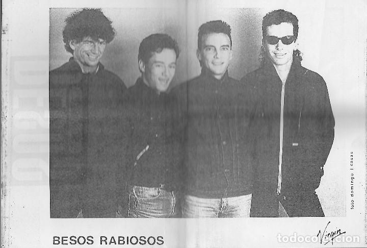 """Discos de vinilo: BESOS RABIOSOS 7"""" SPAIN 45 ME QUIERE ENVENENAR 1987 SINGLE VINILO POWER POP ROCK + HOJA PRENSA MIRA - Foto 3 - 238363800"""