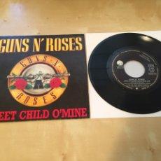 "Discos de vinilo: GUNS N' ROSES - SWEET CHILD O'MINE - SINGLE PROMO RADIO 7"" - 1989 ESPAÑA COMO NUEVO. Lote 238374890"