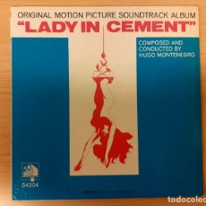 Disques de vinyle: LADY IN CEMENT (LA MUJER DE CEMENTO) HUGO MONTENEGRO ORIGINAL USA 1968 20TH CENTURY FOX RECORDS. Lote 238380755