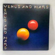 Discos de vinilo: LP - VINILO WINGS - VENUS AND MARS - DOBLE PORTADA + ENCARTE + PÓSTER + PEGATINA - ITALIA - AÑO 1975. Lote 238383410