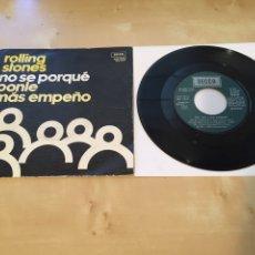 """Discos de vinilo: THE ROLLING STONES - NO SE PORQUÉ PONLE MÁS EMPEÑO - SINGLE RADIO PROMO 7"""" - 1975 ESPAÑA. Lote 238387725"""